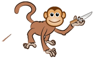 monkey with knife